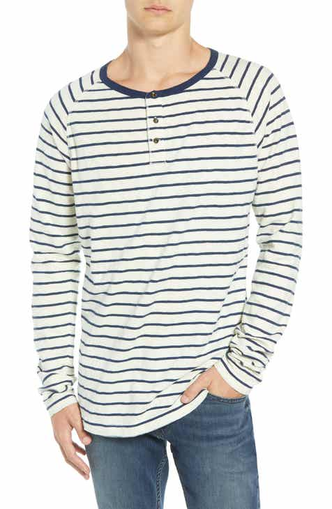 Mens henley long sleeve t shirts nordstrom scotch soda stripe henley t shirt publicscrutiny Choice Image