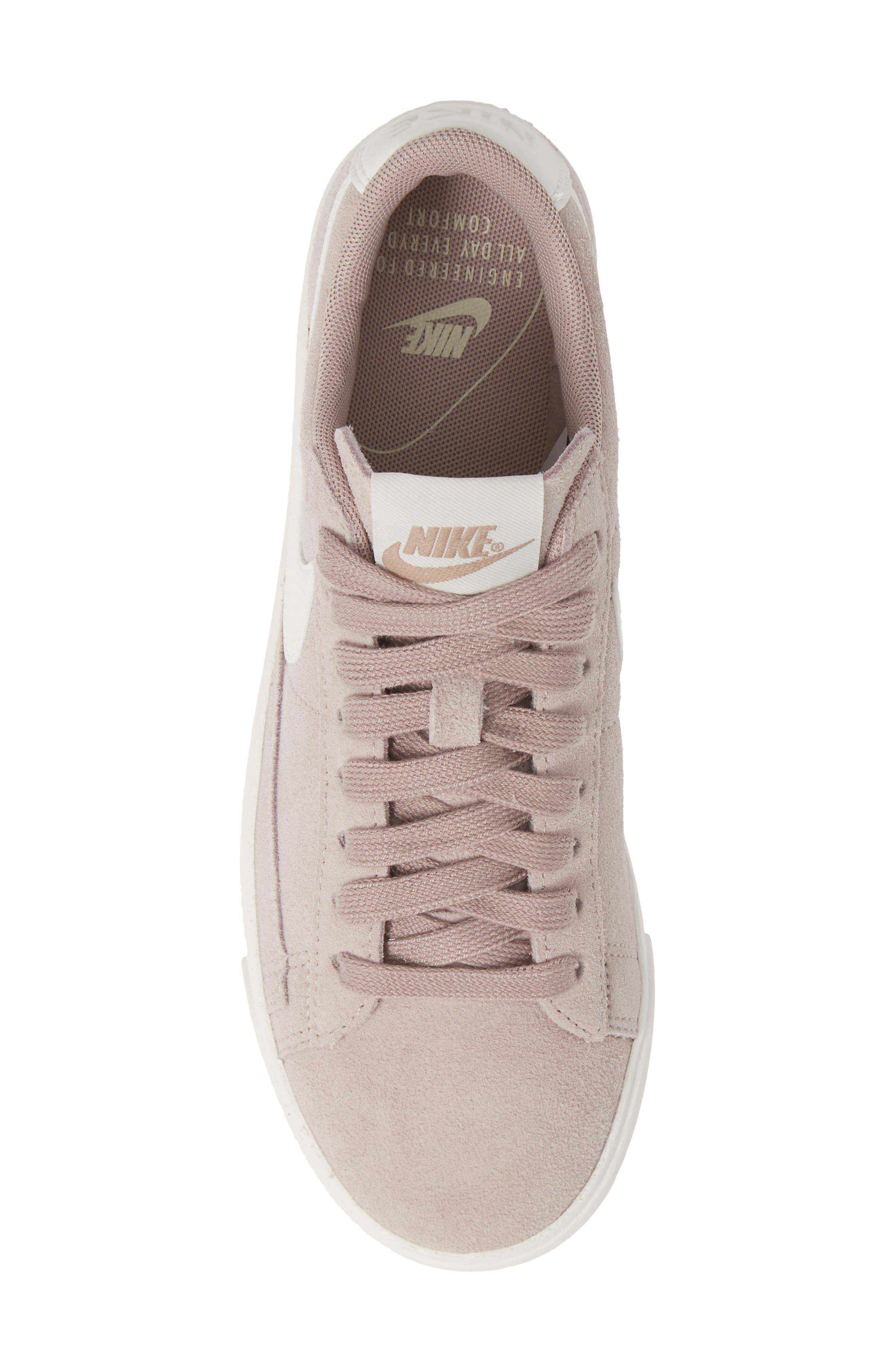 Blazer Low Sneaker,                             Alternate thumbnail 4, color,                             Diffused Taupe/ Sail