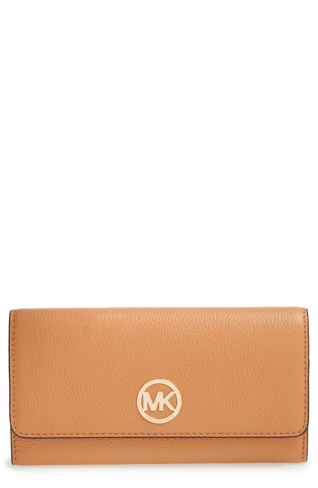 Alternate Image 1 Selected - MICHAEL Michael Kors 'Fulton' Trifold Leather Wallet