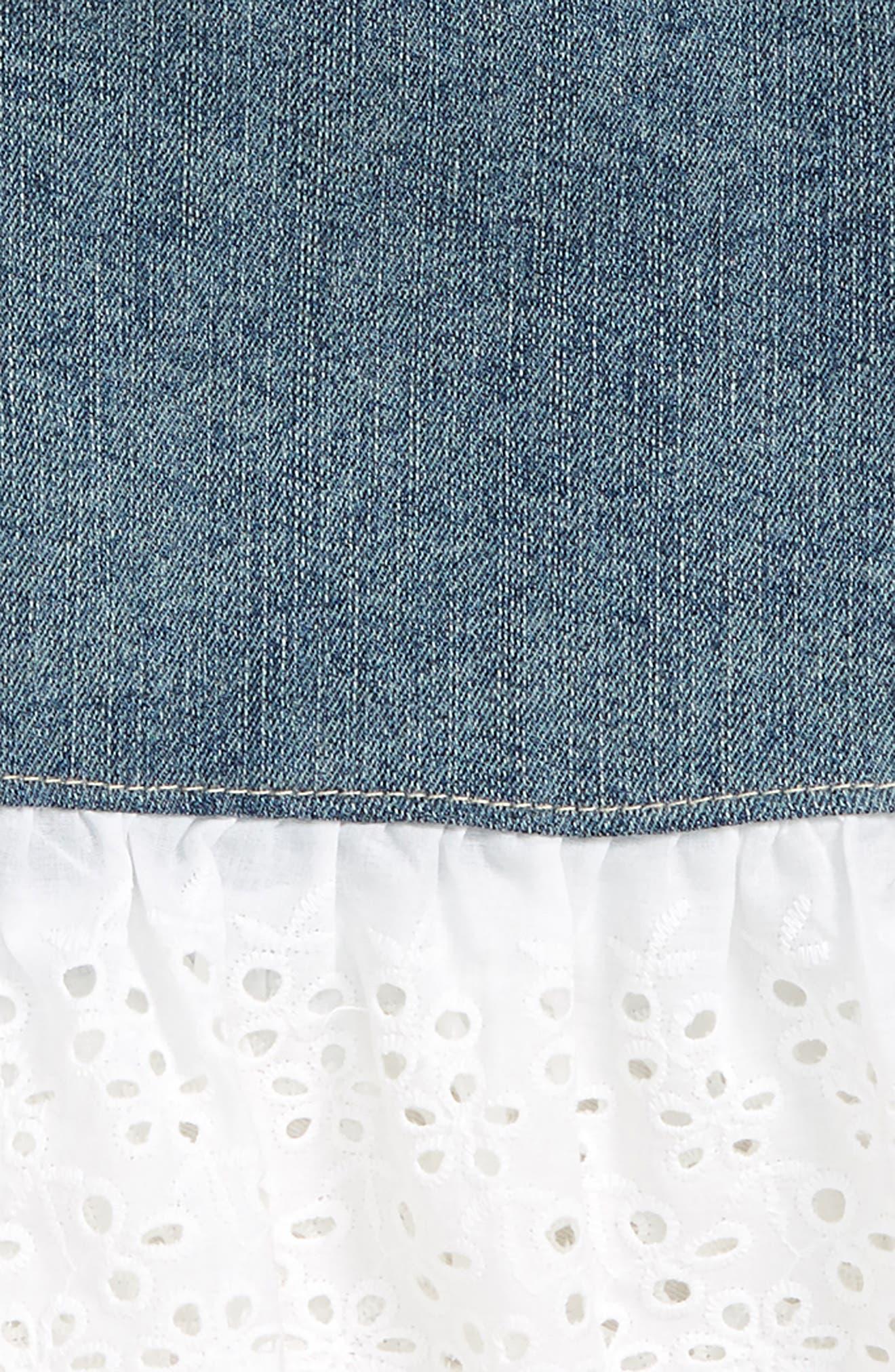 Denim Skirt,                             Alternate thumbnail 2, color,                             Marissa Wash