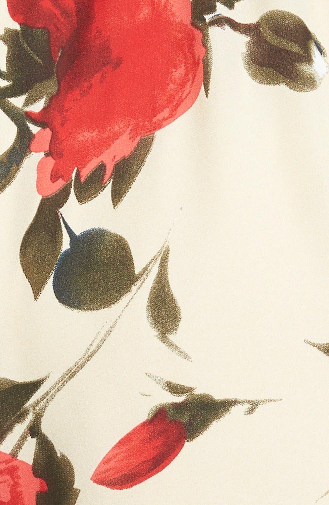 Alternate Image 3  - Missguided Rose Print Romper