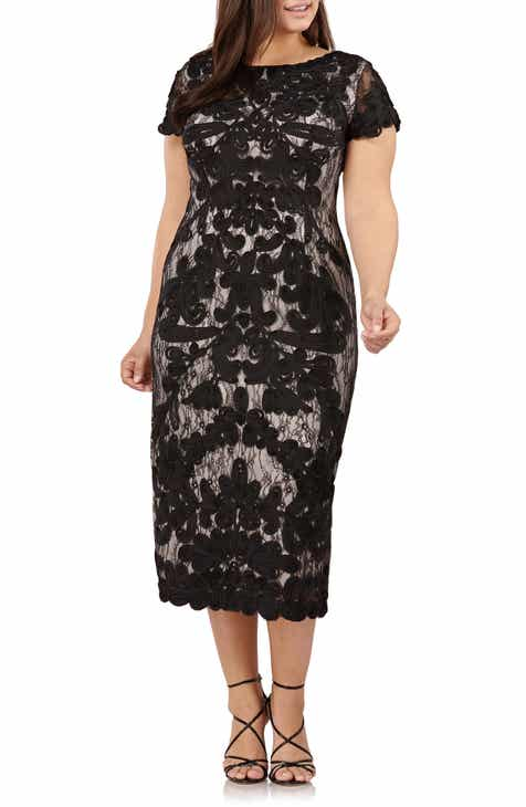 8dfa6cdcb96 JS Collections Two Tone Soutache Embroidered Midi Dress (Plus Size)