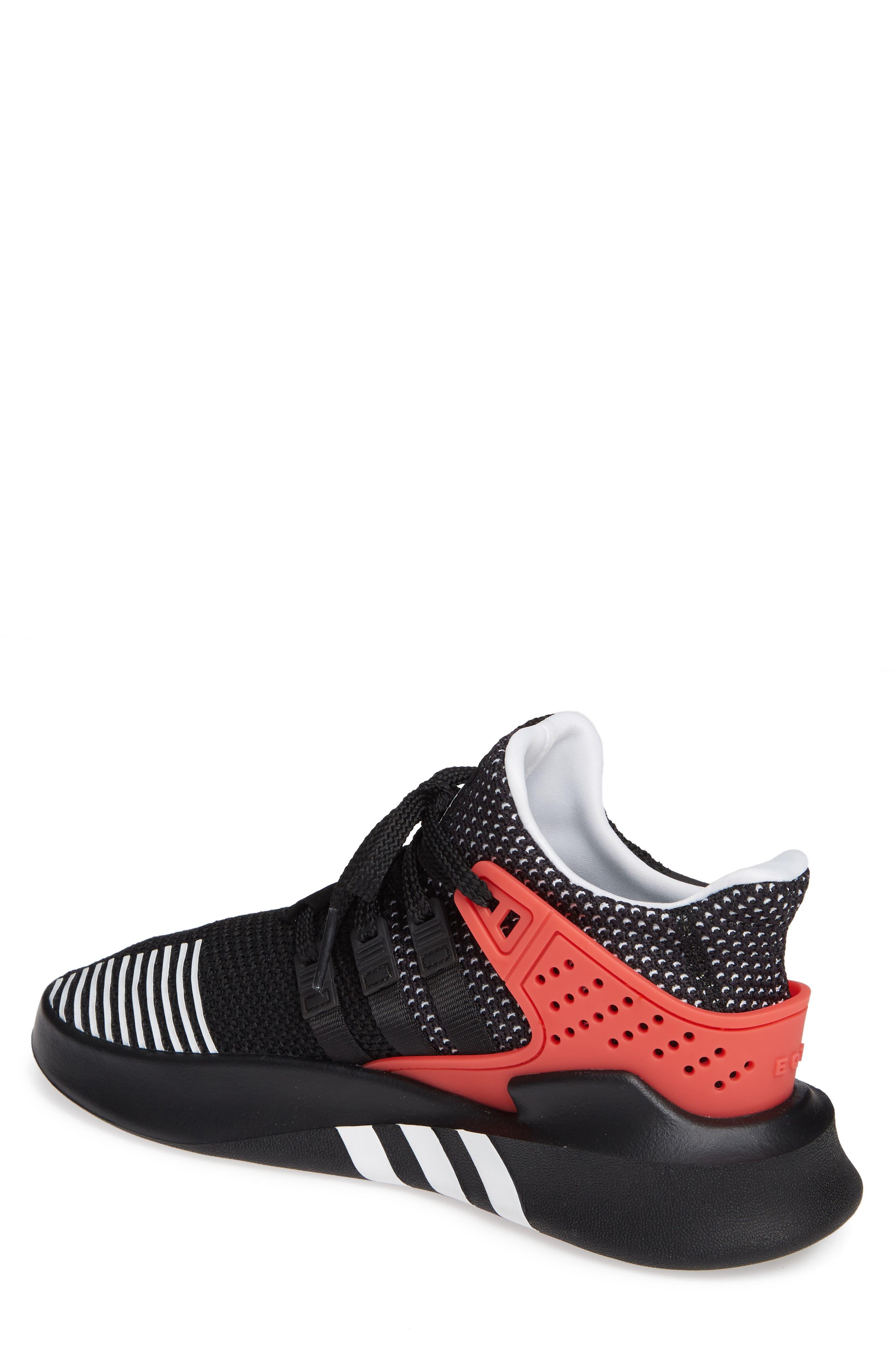 EQT Basketball ADV Sneaker,                             Alternate thumbnail 2, color,                             Black/ White/ Hi-Res Red