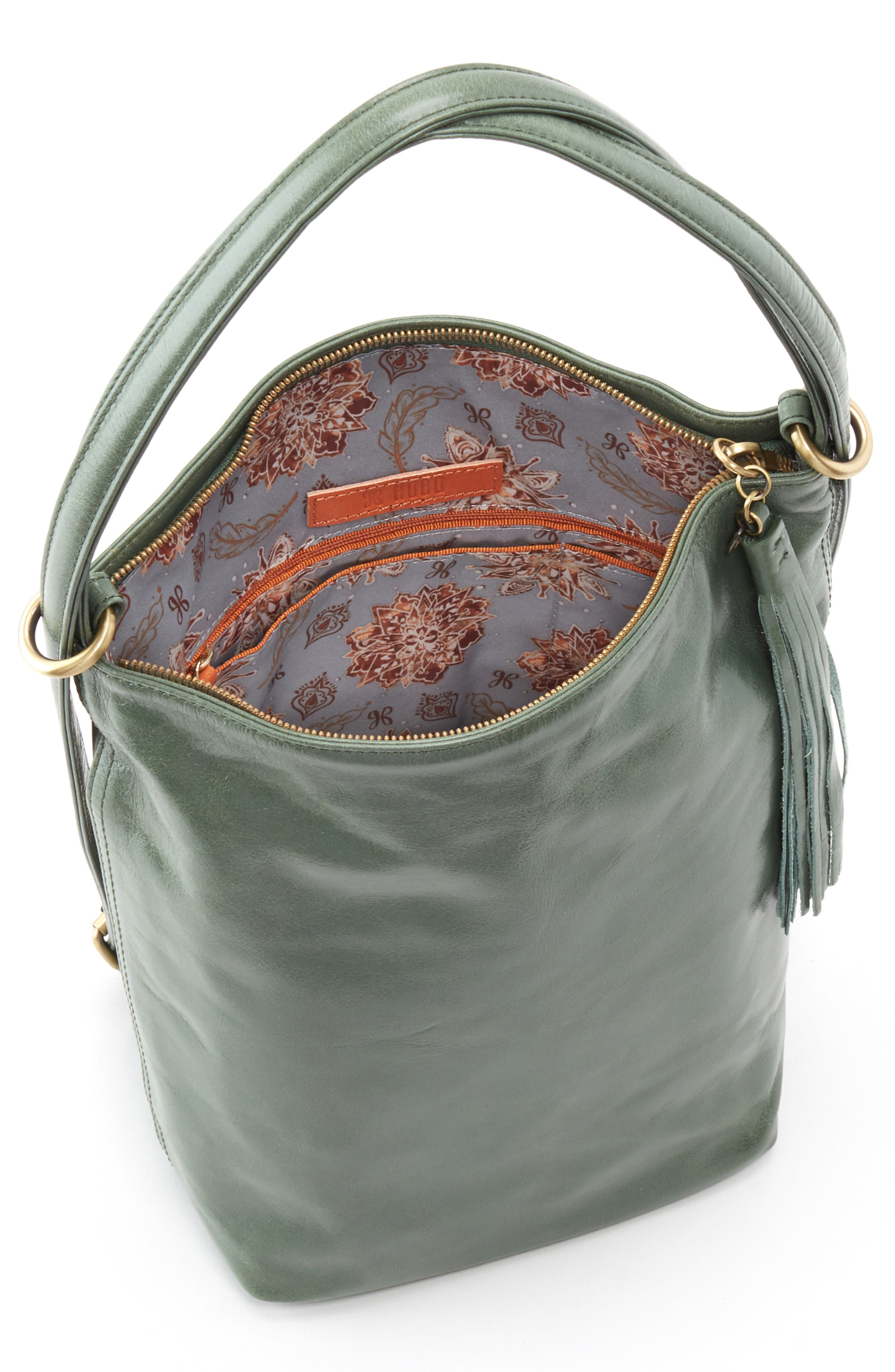 Blaze Convertible Leather Shoulder Bag,                             Alternate thumbnail 2, color,                             Moss