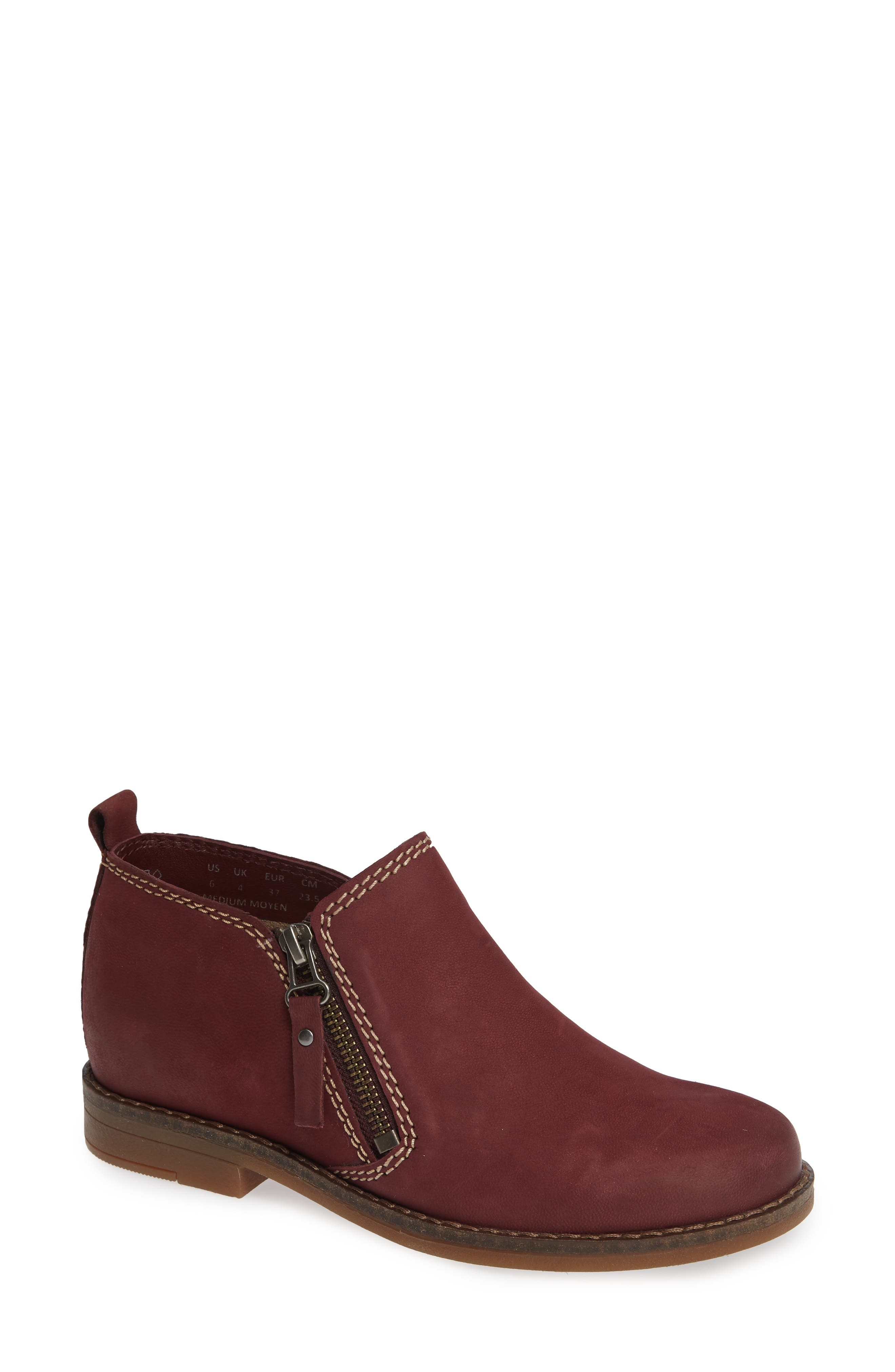 'Mazin Cayto' Bootie,                             Main thumbnail 1, color,                             Dark Wine Nubuck