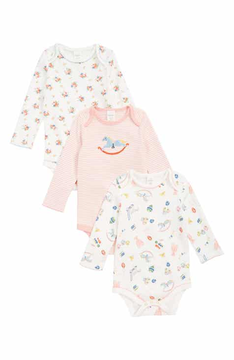 Mini Boden 3-Pack Organic Cotton Bodysuits (Baby) 4f1758d17