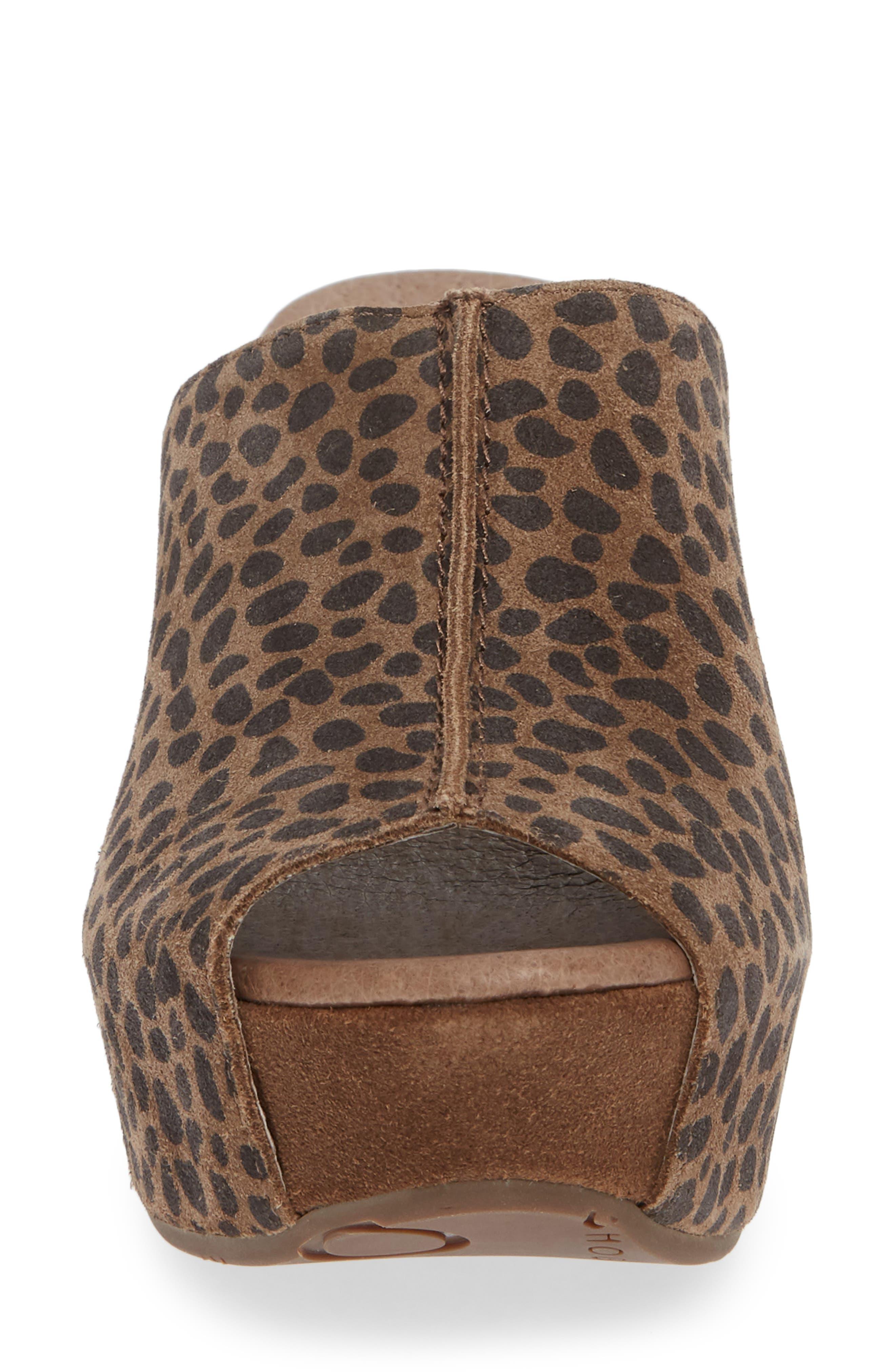 Wynn Peep Toe Mule,                             Alternate thumbnail 5, color,                             Leopard Suede