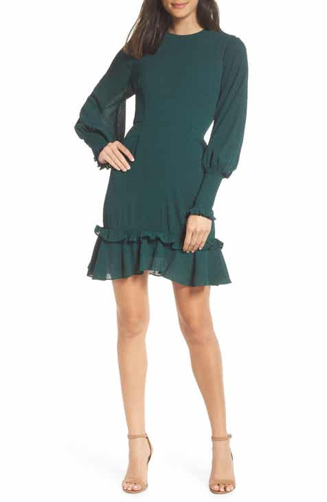 Chelsea28 Ruffle A Line Dress Regular Plus Size