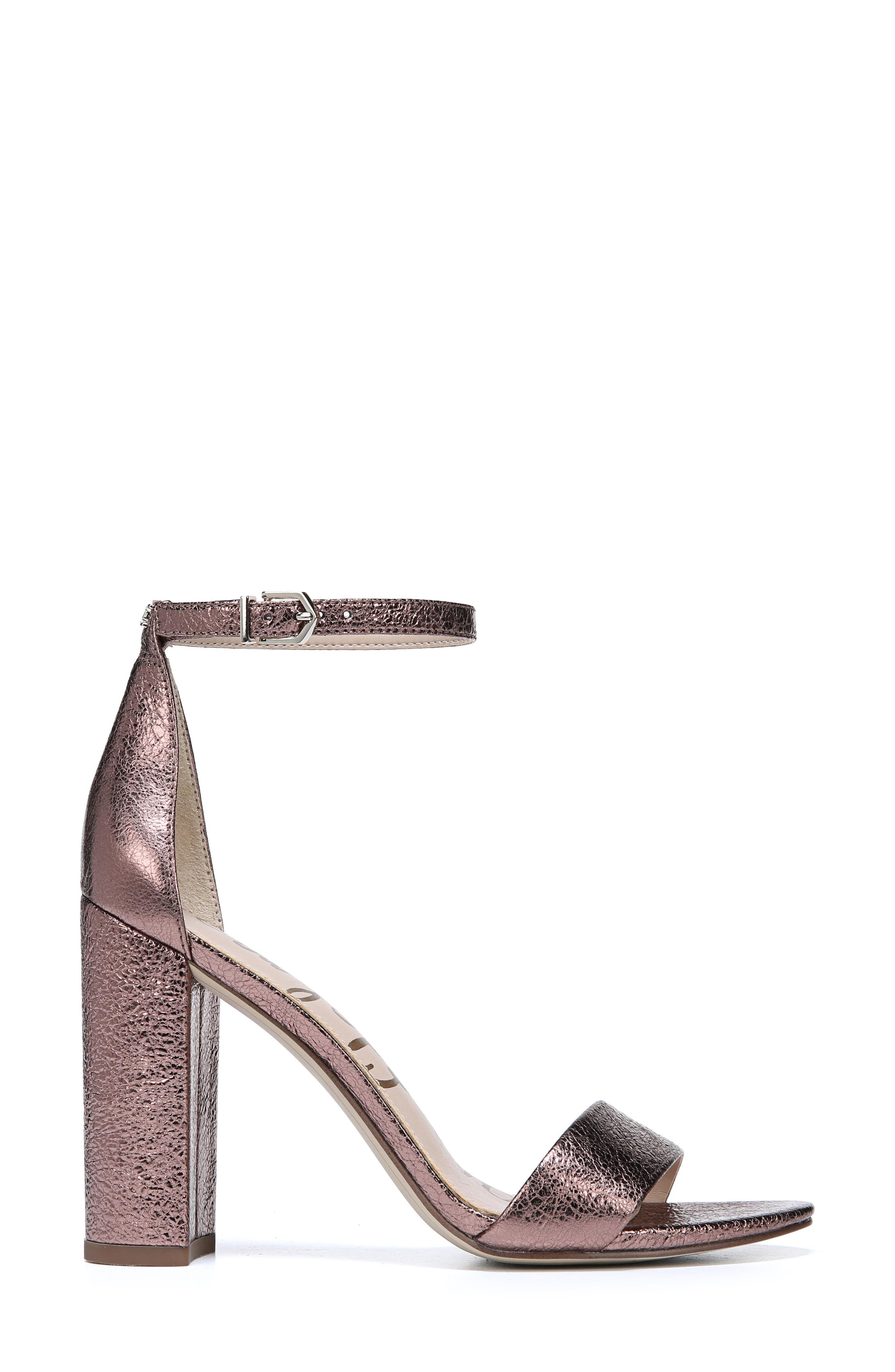 Yaro Ankle Strap Sandal,                             Alternate thumbnail 8, color,                             Cameo Pink Suede