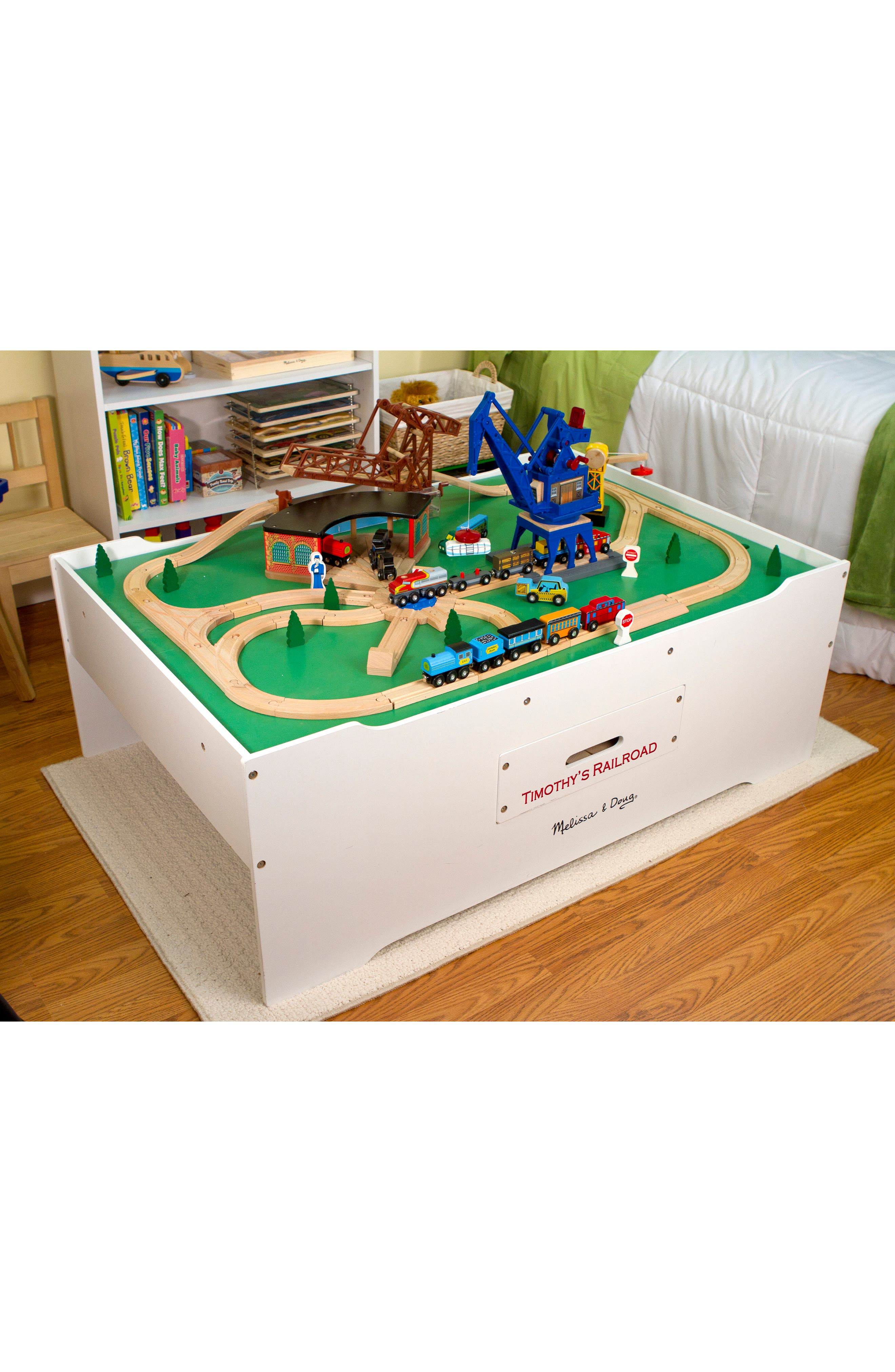Personalized Multi Activity Table,                             Alternate thumbnail 3, color,                             White