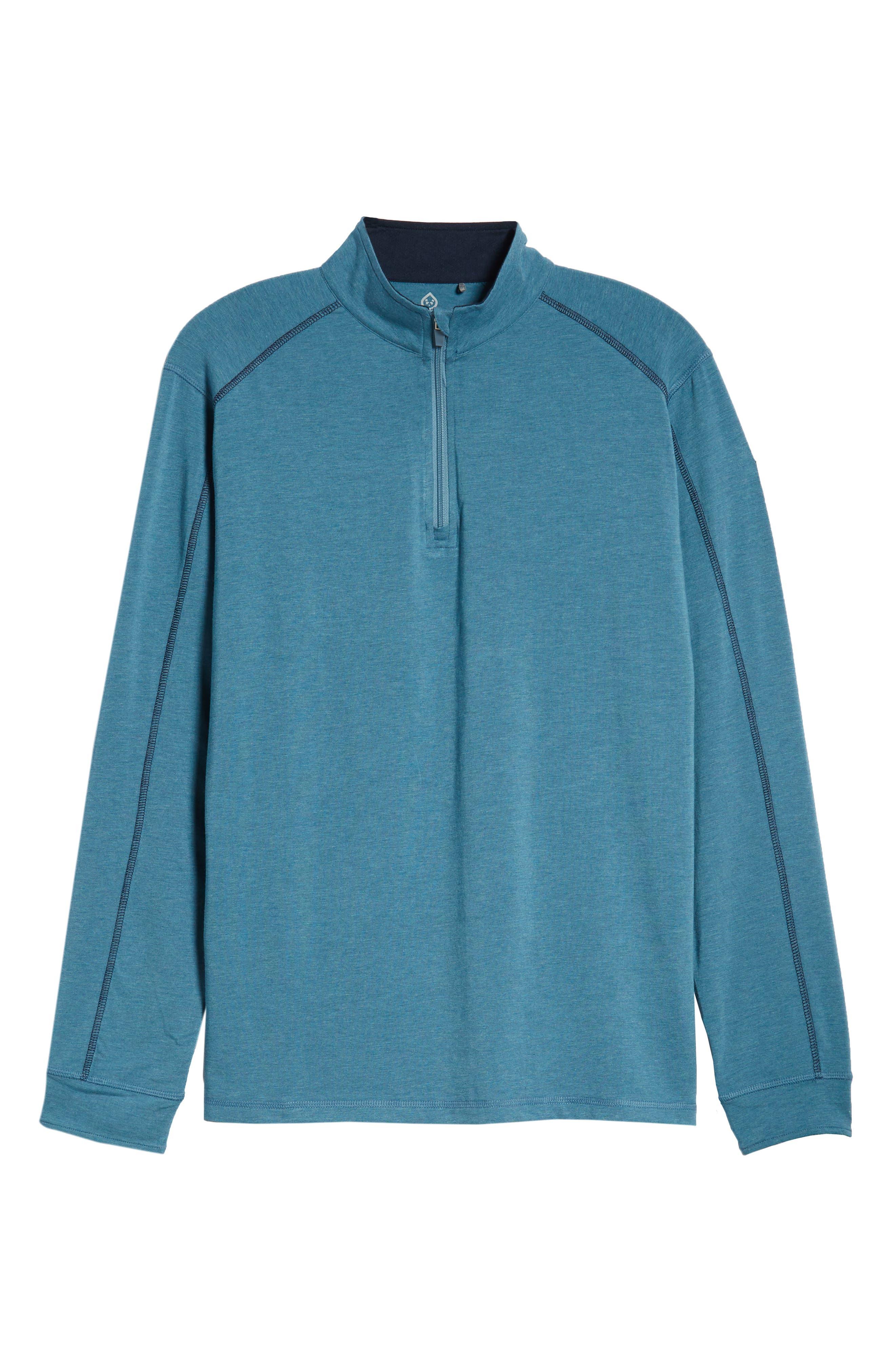 Carrollton Quarter Zip Sweatshirt,                             Main thumbnail 1, color,                             Tranquility Sea Heather