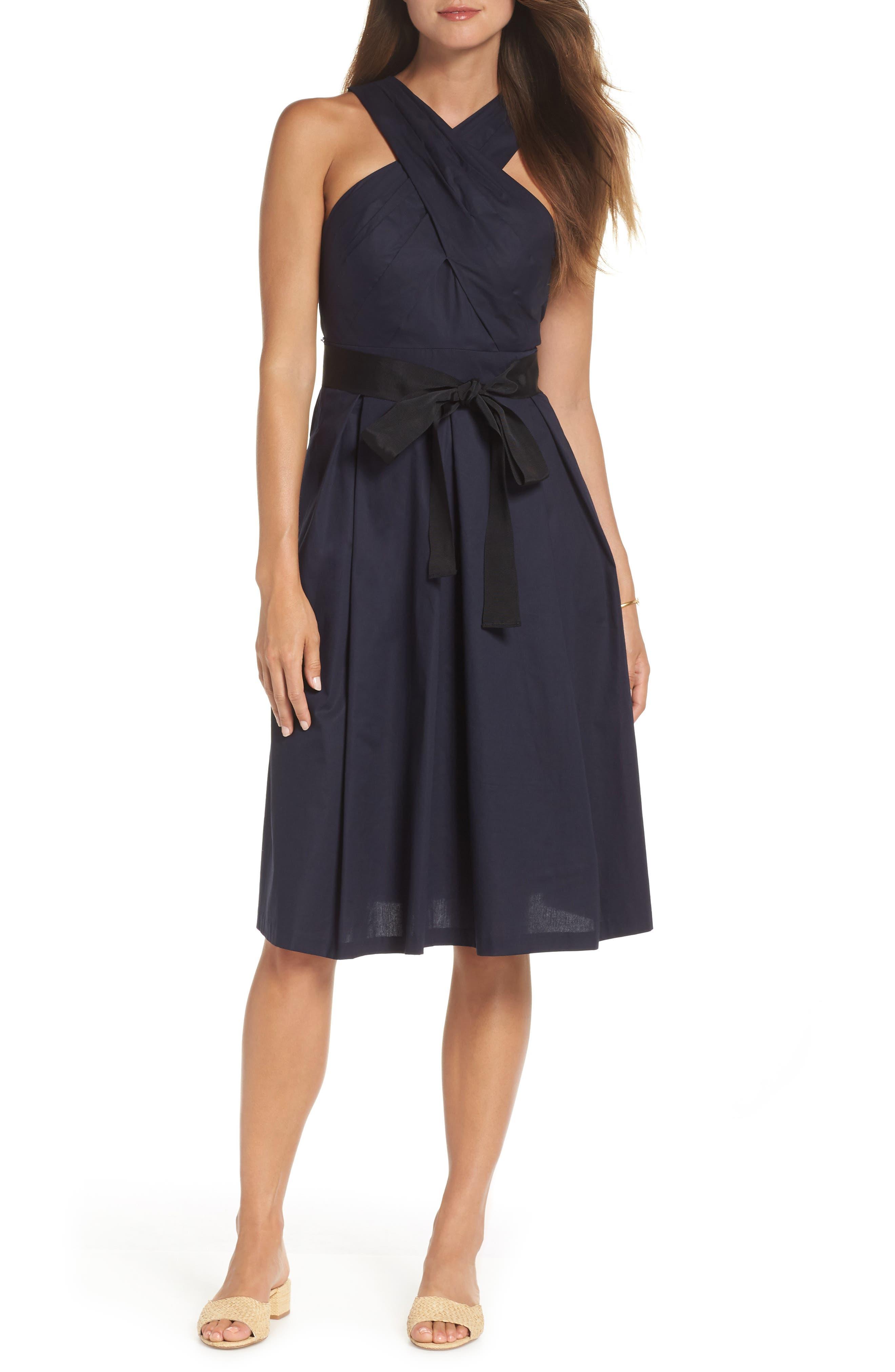 1901 Cross Front A-Line Dress (Regular \u0026 Petite)