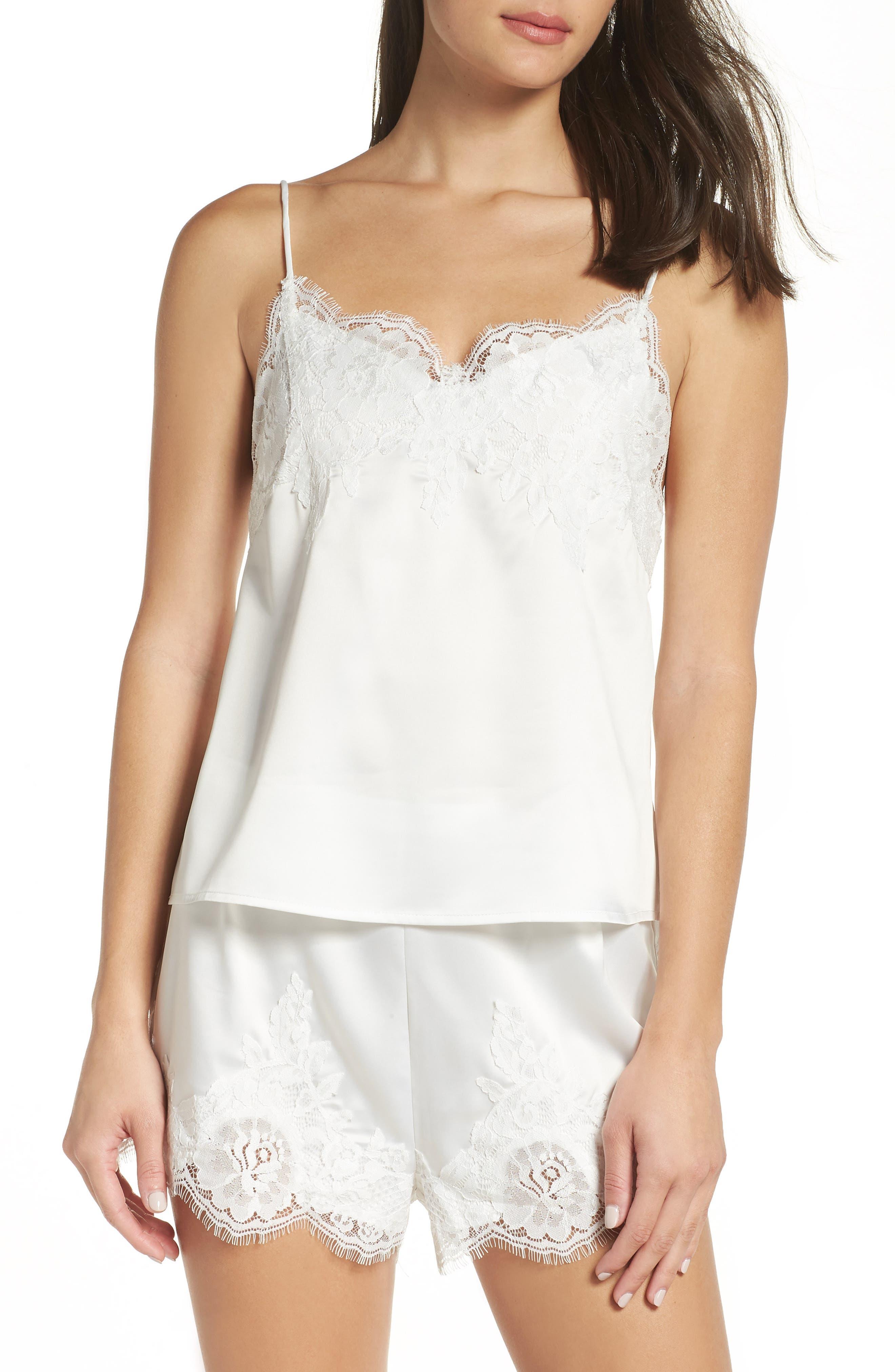 HOMEBODII Olivia Short Pajamas in White