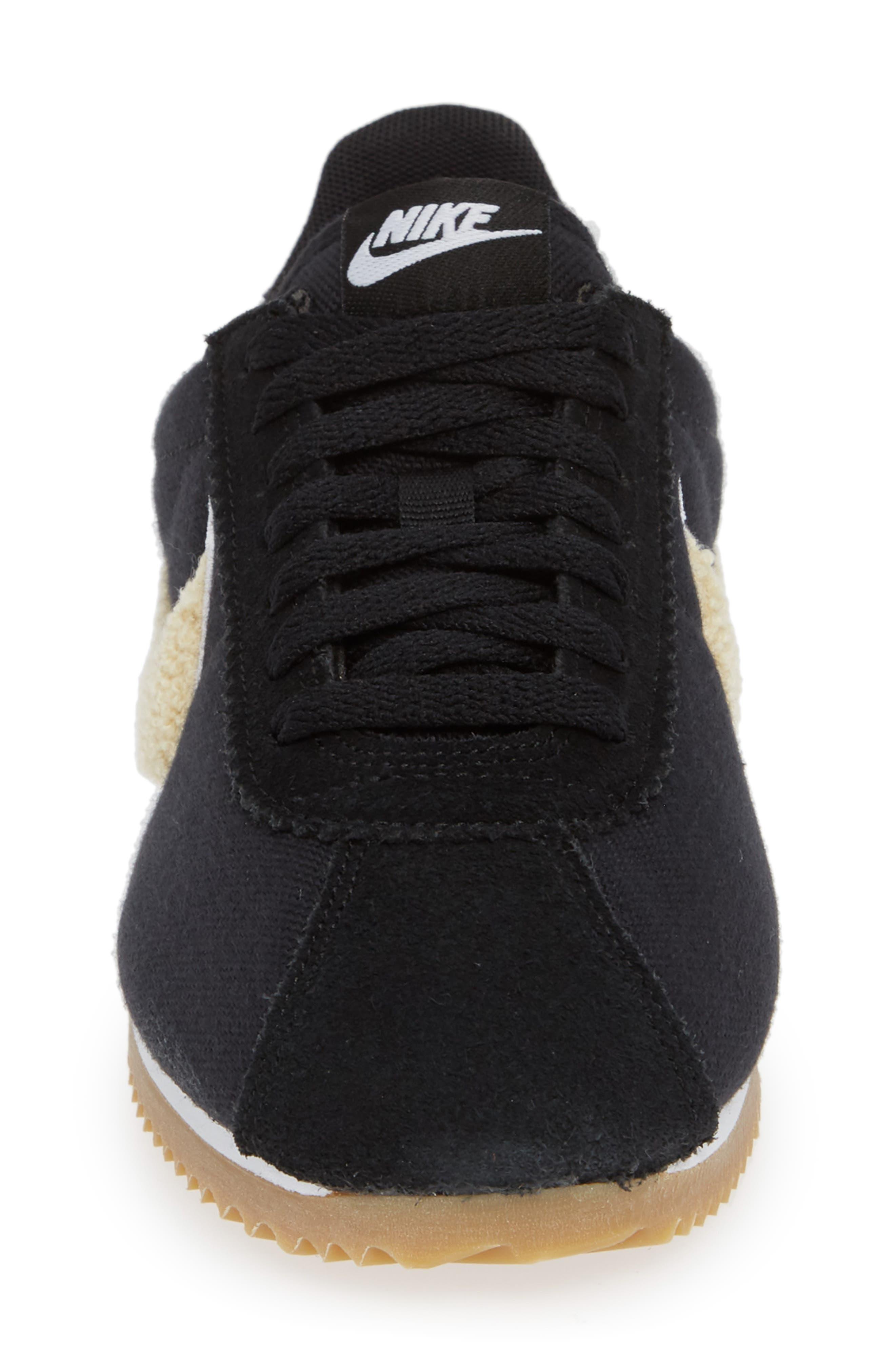 Classic Cortez Premium XLV Sneaker,                             Alternate thumbnail 5, color,                             Black/ Light Cream/ Brown