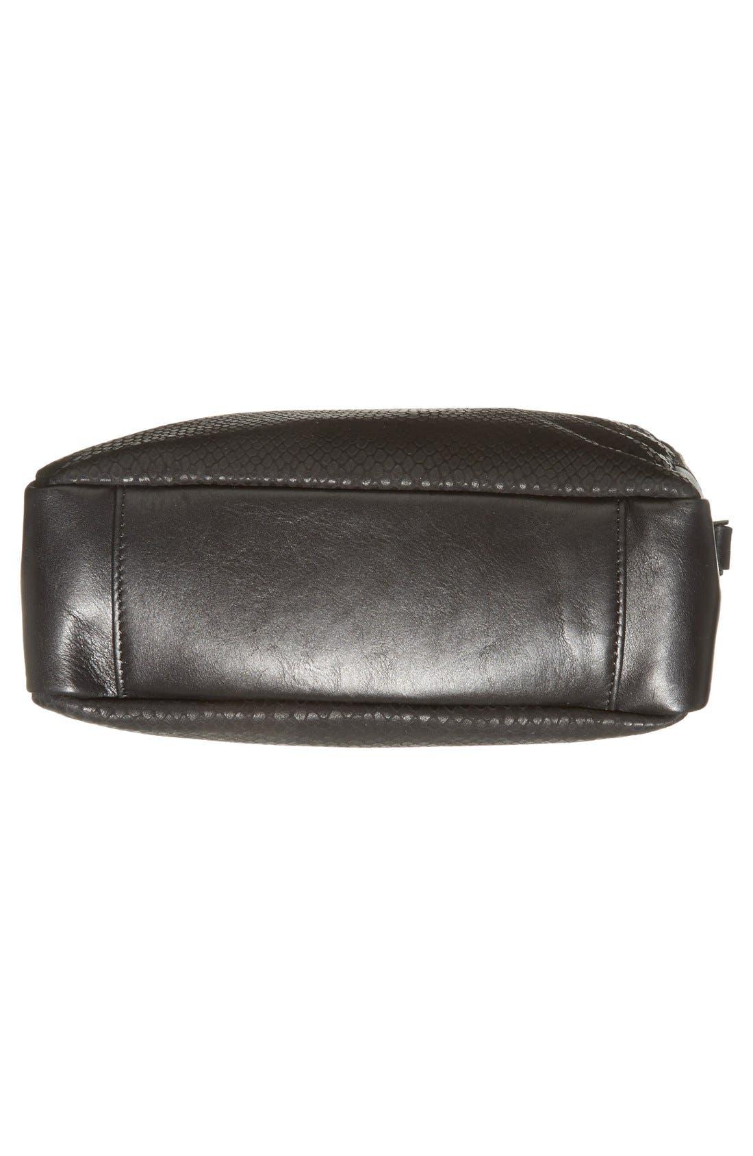Alternate Image 6  - Halogen® Leather Double Zip Crossbody Bag
