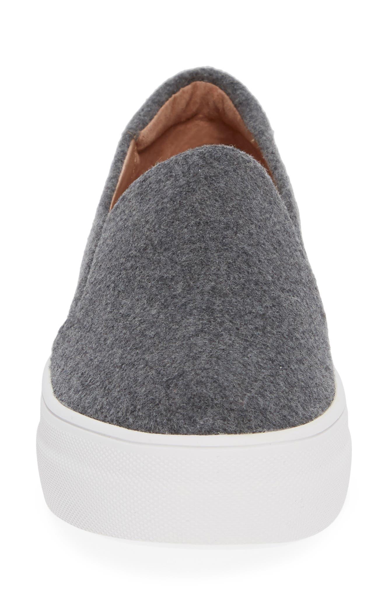 Alden Slip-On Sneaker,                             Alternate thumbnail 4, color,                             Stone Boiled Wool
