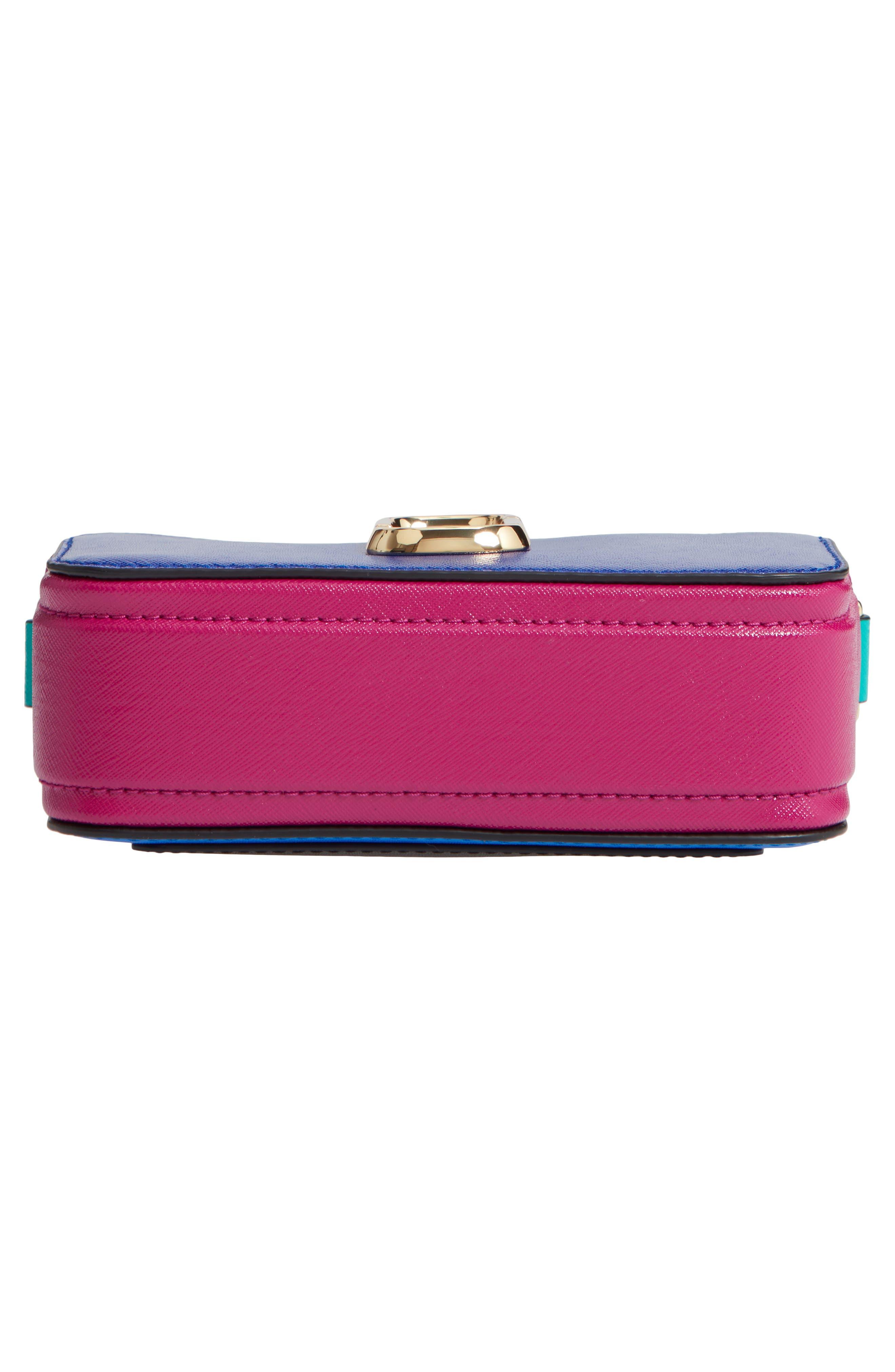 Snapshot Crossbody Bag,                             Alternate thumbnail 4, color,                             Academy Blue Multi