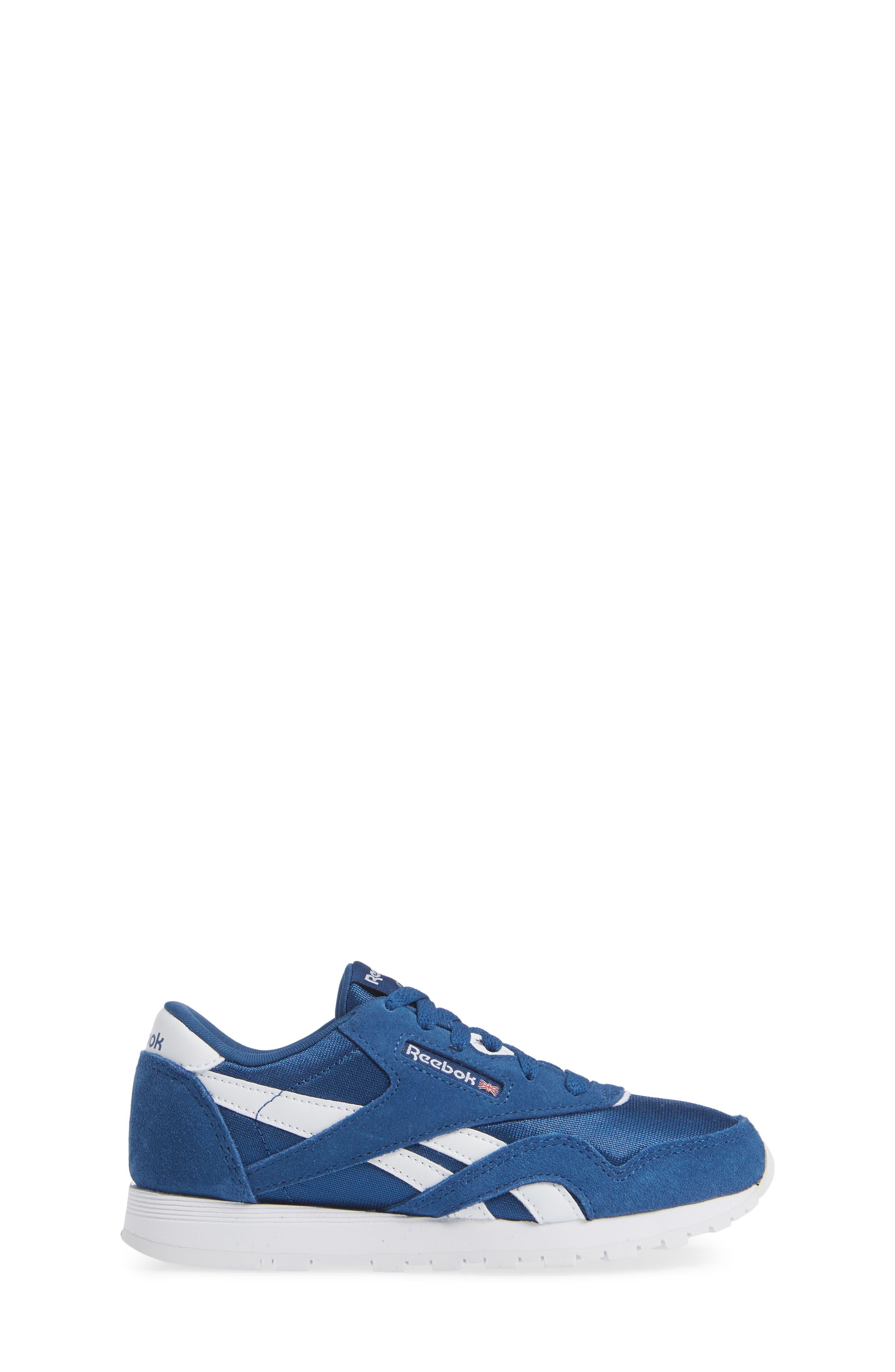 Classic Nylon Sneaker,                             Alternate thumbnail 6, color,                             Bunker Blue/ White