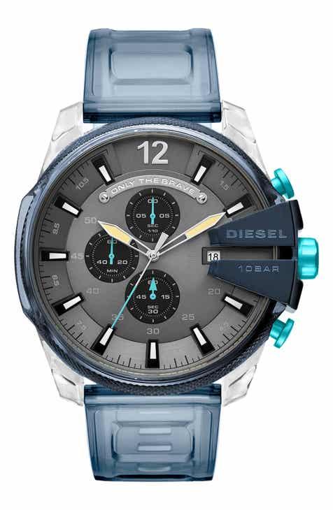 4b9ace95099f DIESEL® Mega Chief Chronograph Polyurethane Strap Watch