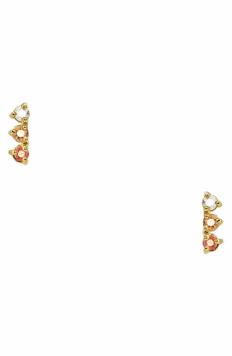 d6d03e99c Wwake Counting Collection Three-Step Opal & Diamond Statement Earrings