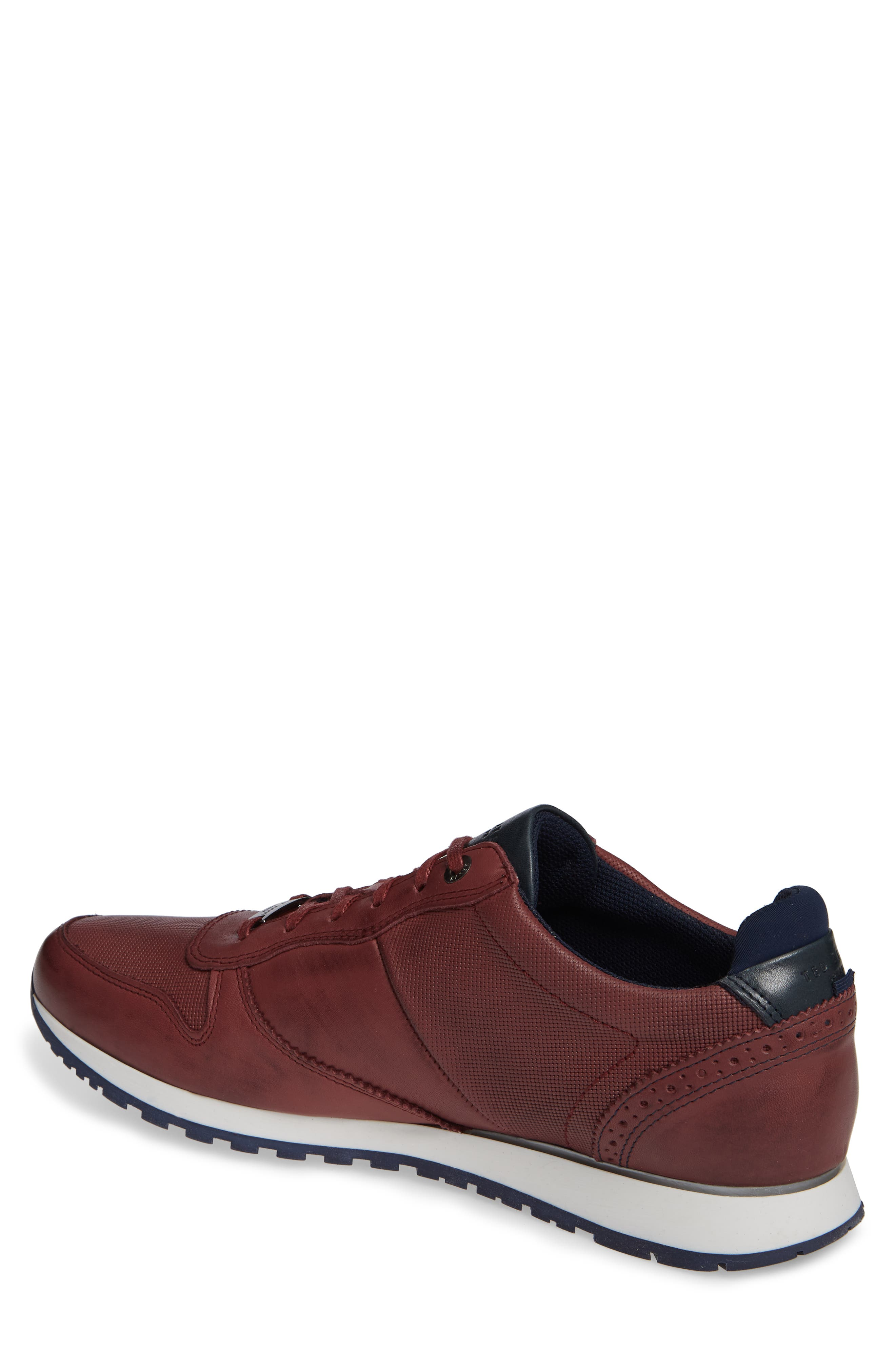 Shindl Sneaker,                             Alternate thumbnail 3, color,                             Dark Red Leather