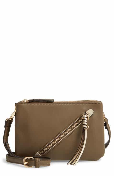 Sondra Roberts East West Faux Leather Crossbody Bag