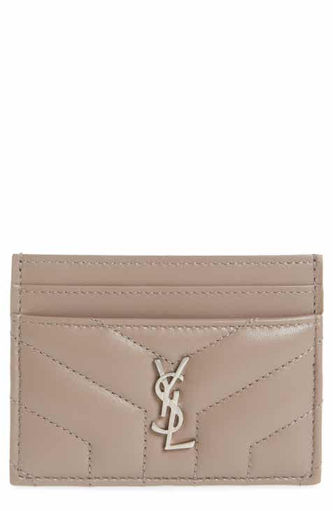 Card cases wallets card cases for women nordstrom saint laurent loulou monogram quilted leather credit card case colourmoves