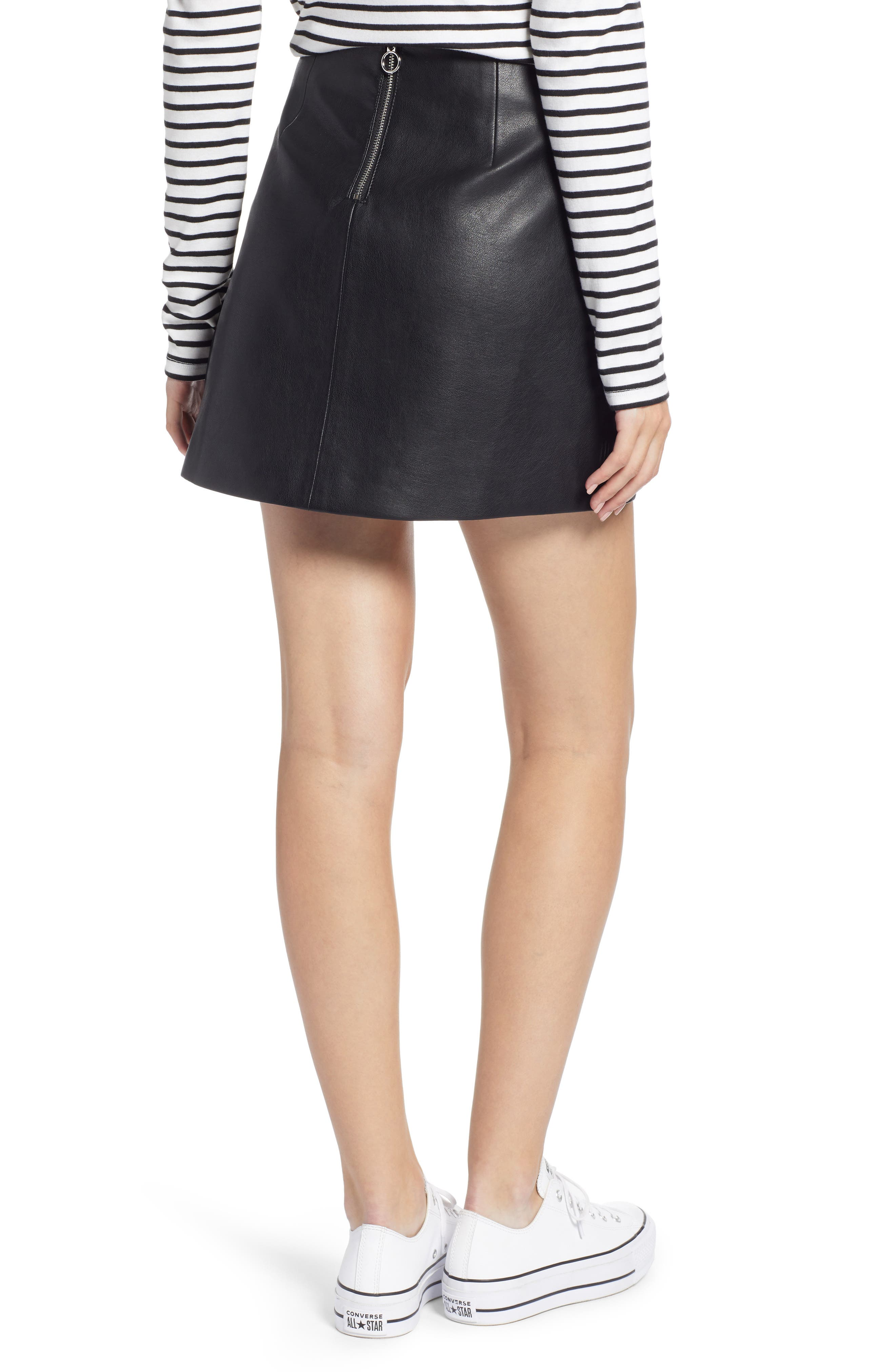 4197728337 Women s Faux Leather Skirts