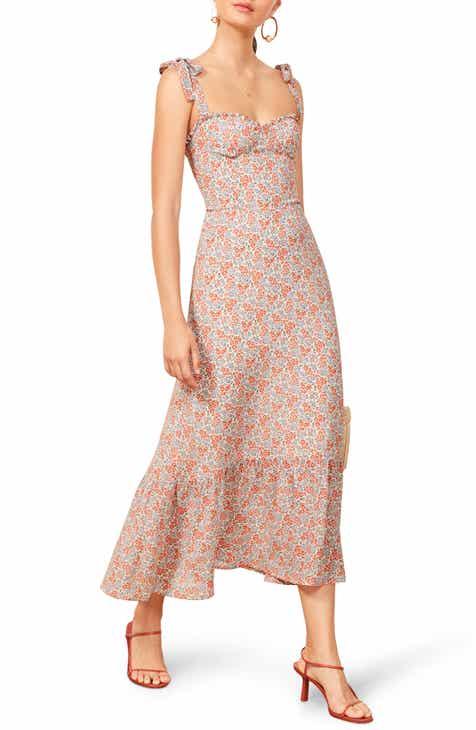 68f4692e7f1 Reformation Nikita Floral Midi Dress