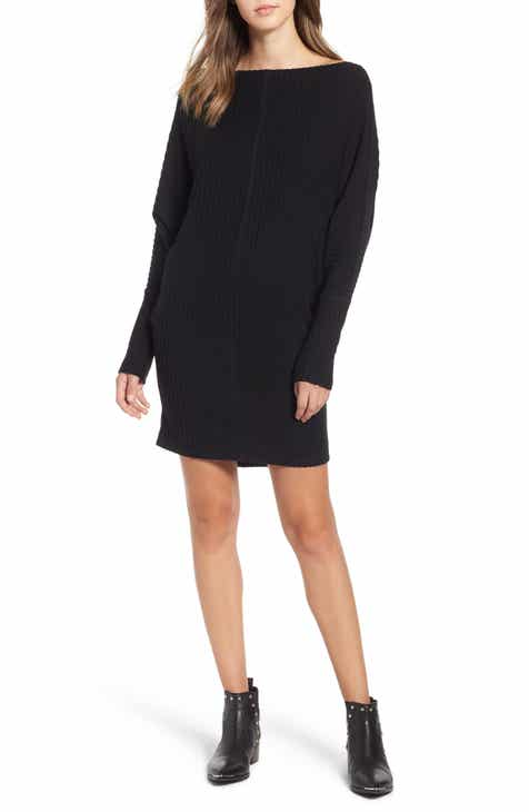 Rib Bateau Sweater Dress Plus Size