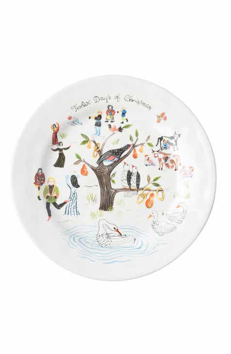juliska twelve days of christmas ceramic salad plate