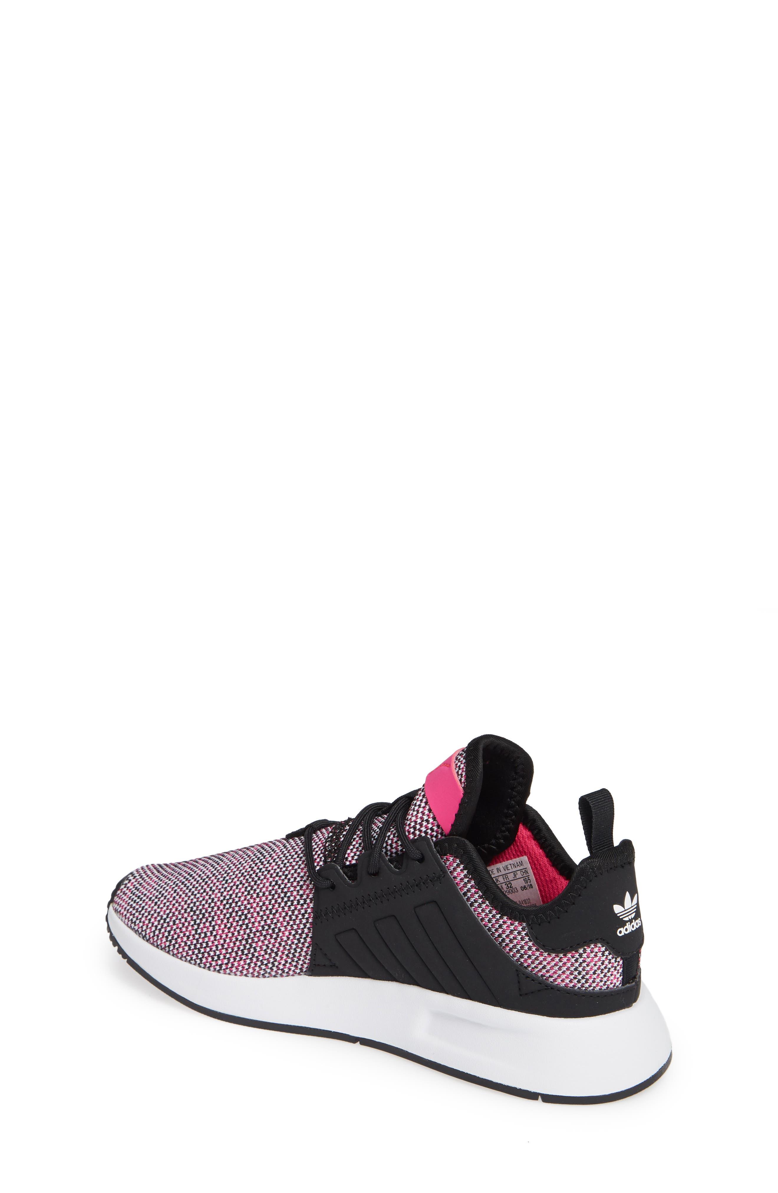 X_PLR Sneaker,                             Alternate thumbnail 2, color,                             Shock Pink/ Black/ White