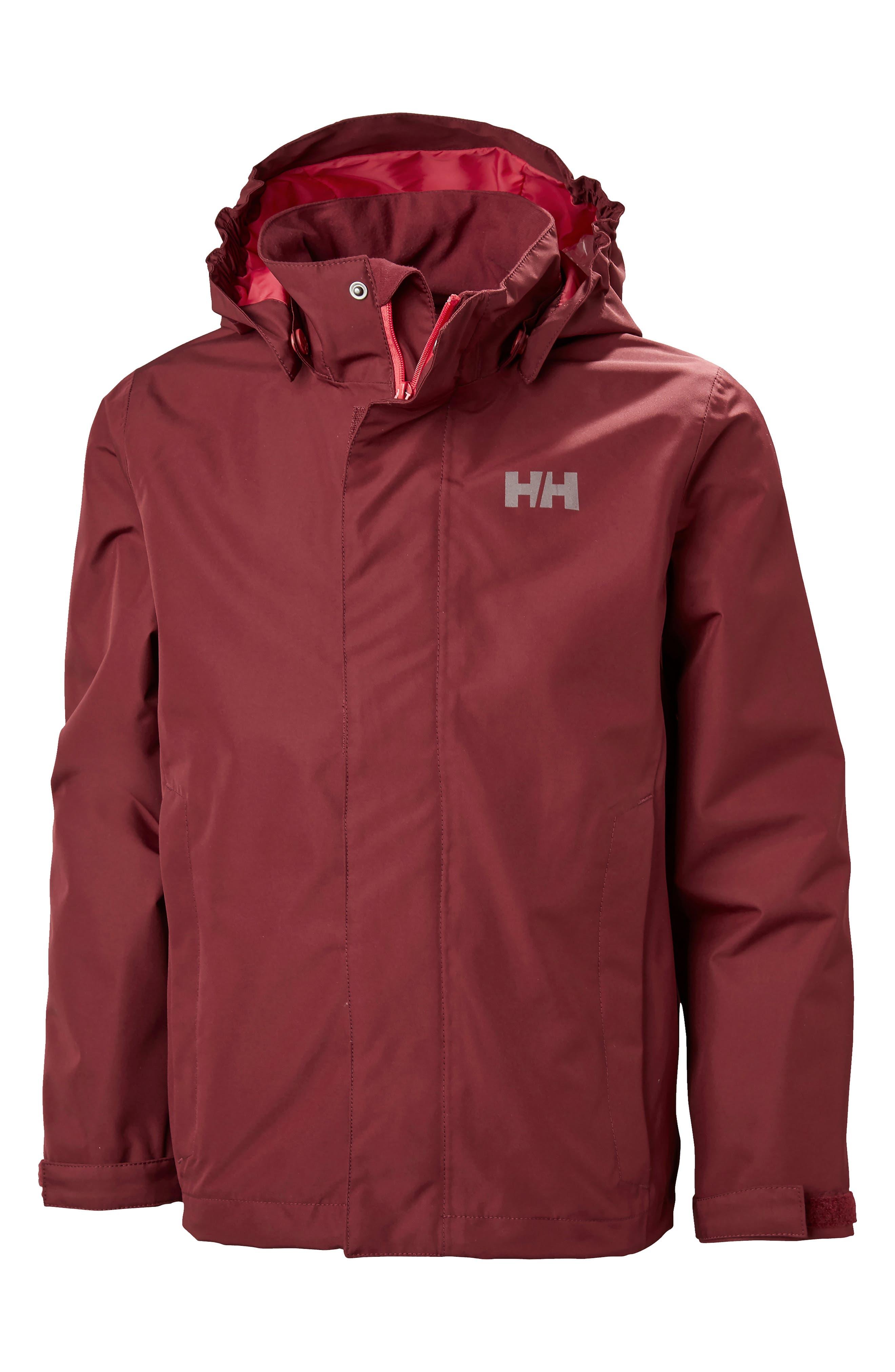 Seven Hooded Jacket,                         Main,                         color, Cabernet