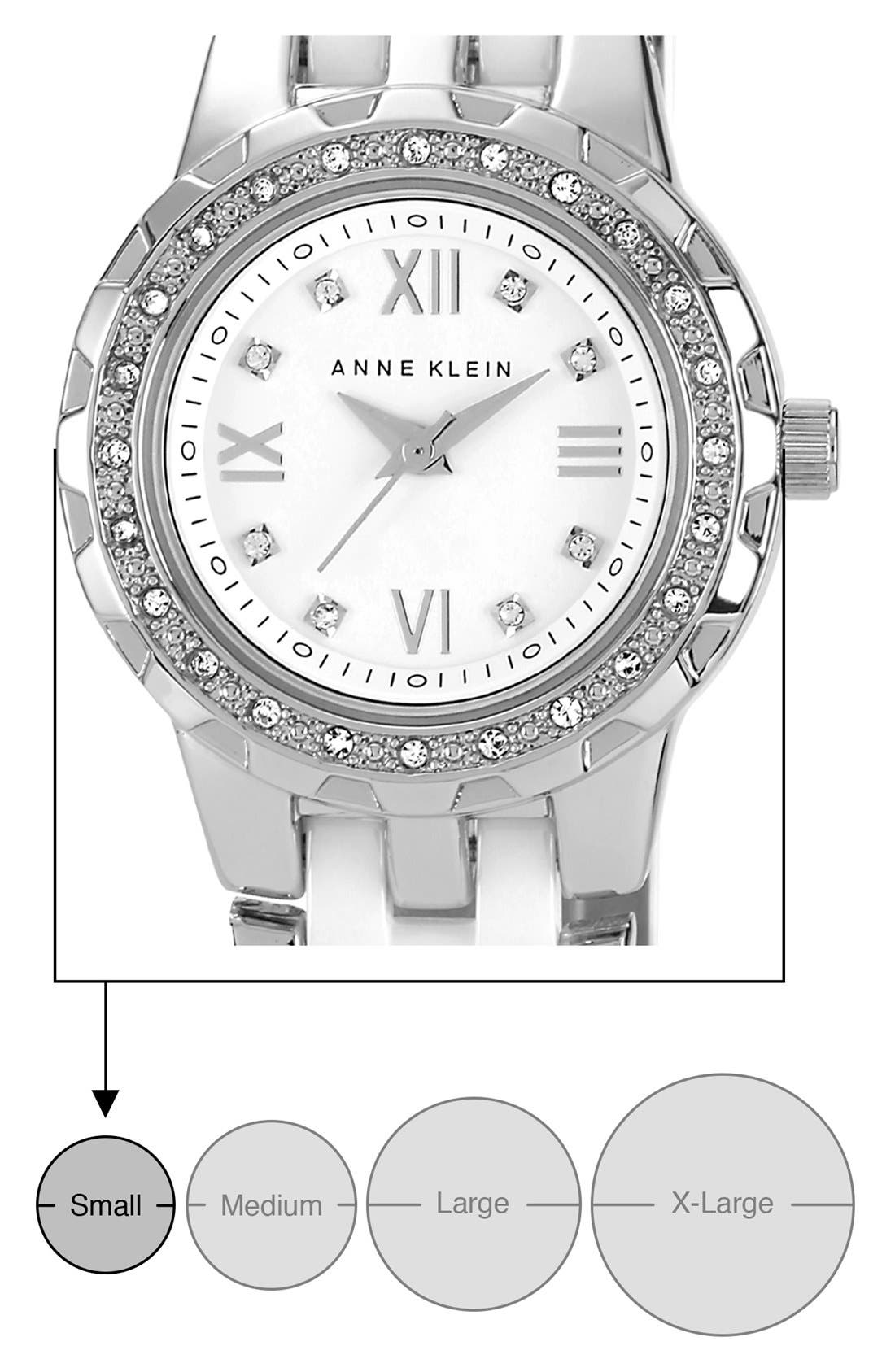 Alternate Image 3  - Anne Klein Crystal & Ceramic Bracelet Watch, 25mm