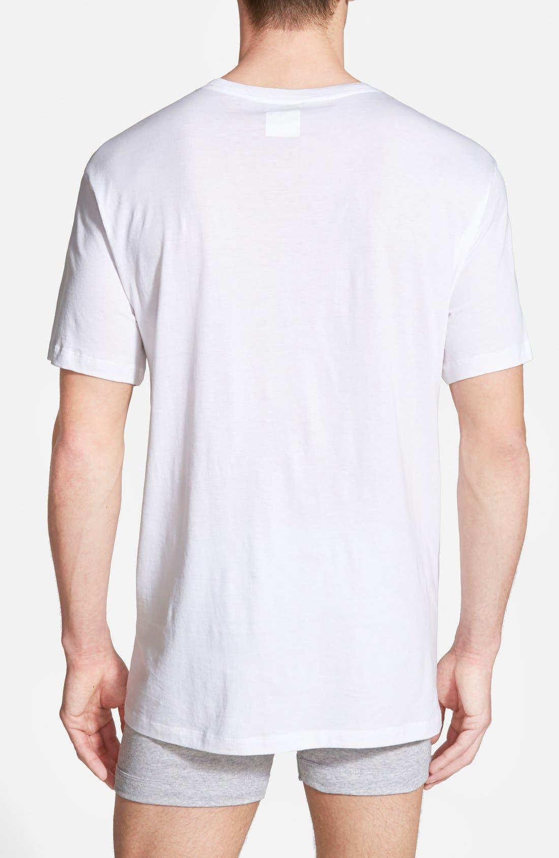 Supima<sup>®</sup> Cotton V-Neck T-Shirt,                             Alternate thumbnail 2, color,                             White