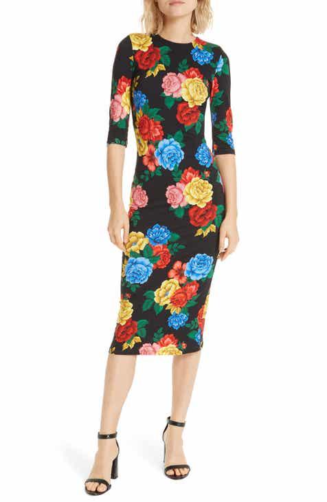 Alice Olivia Delora Ed Midi Dress