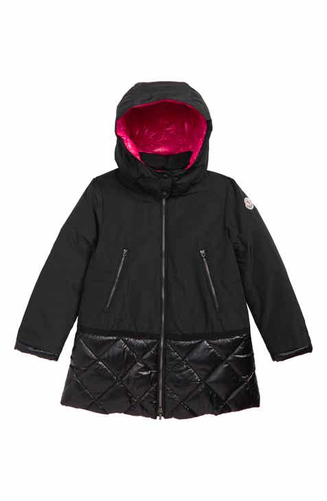 28bf6194d Moncler Sibylle Down Trim Hooded Coat (Little Girls & Big Girls)