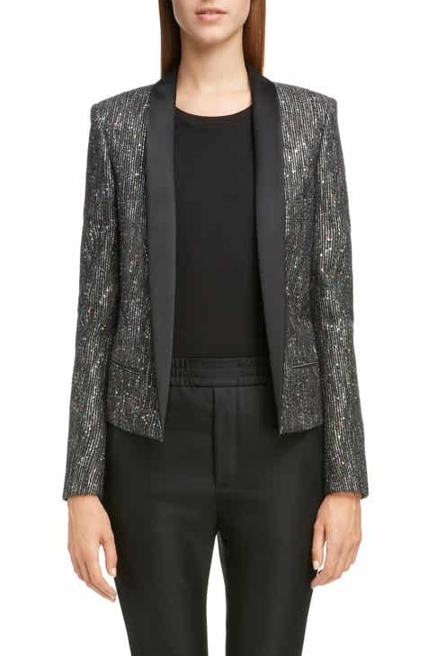Saint Laurent Sequin Tweed Blazer by SAINT LAURENT