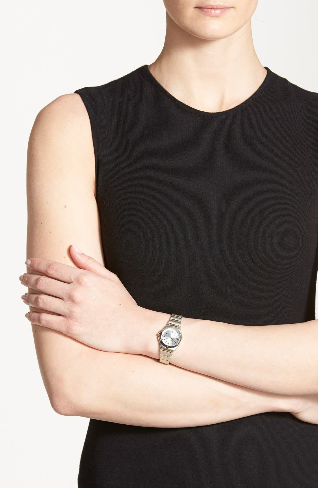 Alternate Image 3  - Anne Klein Silver Dial Bracelet Watch, 25mm