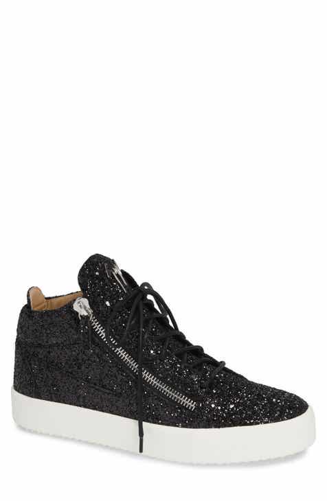 Giuseppe Zanotti Glitter Mid Top Sneaker (Men) aa620ad71086