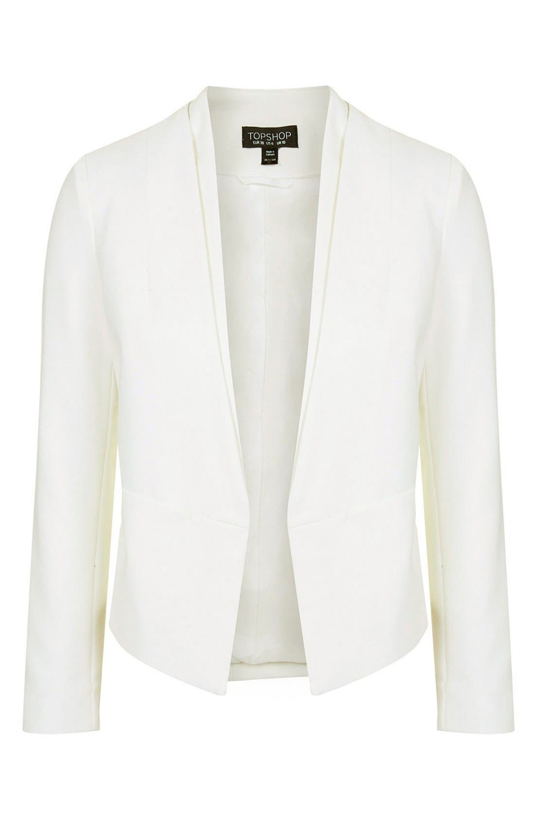 Alternate Image 3  - Topshop 'Poppy' Double Collar Blazer