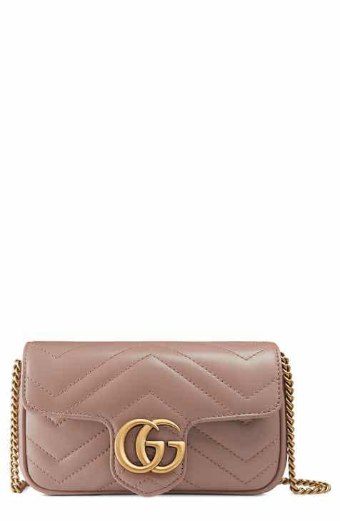 b63ba8706 Gucci Supermini GG Marmont 2.0 Matelassé Leather Shoulder Bag