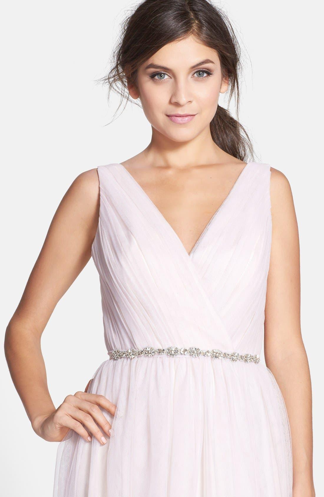 Main Image - Monique Lhuillier Bridesmaids Crystal Belt