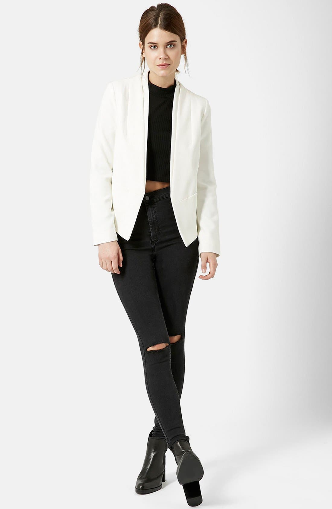Alternate Image 4  - Topshop 'Poppy' Double Collar Blazer