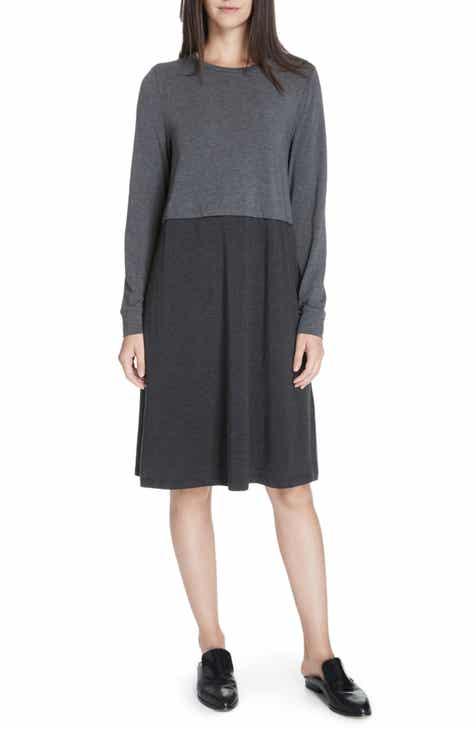 Eileen Fisher Stretch Tencel® A-Line Dress