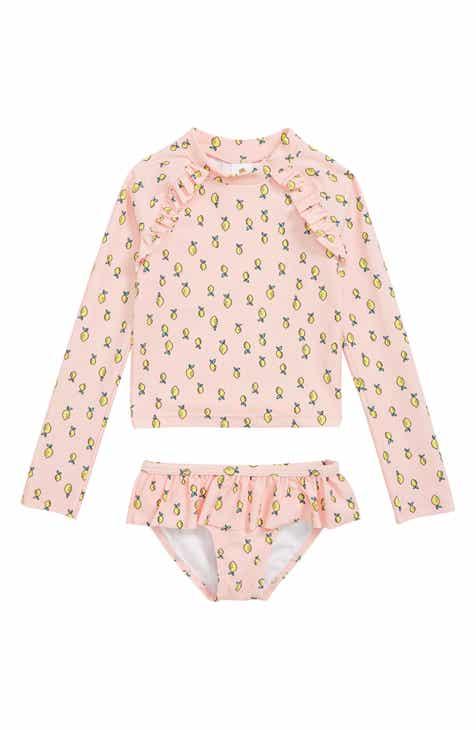 667838d9642 Tucker + Tate Two-Piece Rashguard Swimsuit (Toddler Girls