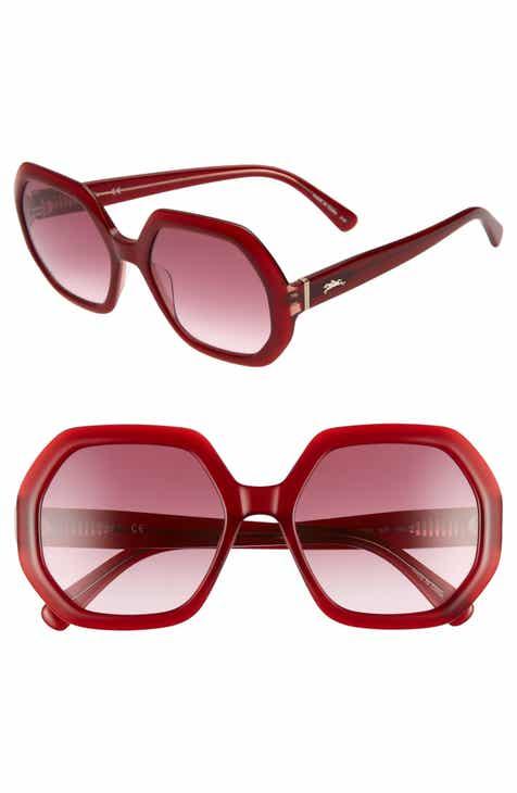 ea04d9ad099ce Longchamp Heritage 55mm Gradient Lens Geometric Sunglasses
