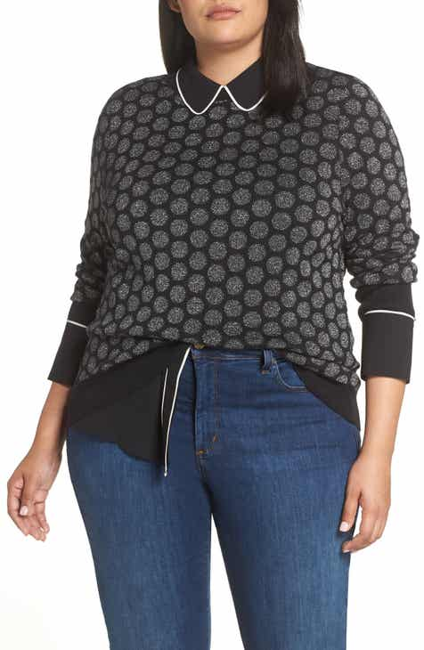 424a2b995ddf3f Halogen® x Atlantic-Pacific Shimmer Dot Sweater (Plus Size)