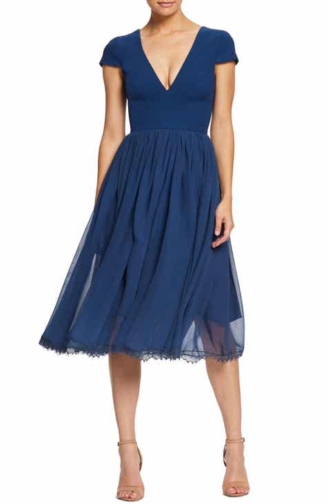 448a706d3548 Dress the Population Corey Chiffon Fit   Flare Dress