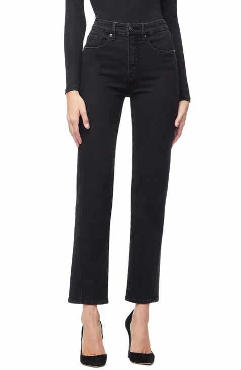 18ecc8723bc Good American Twist Seam Crop Straight Leg Jeans (Regular   Plus Size)